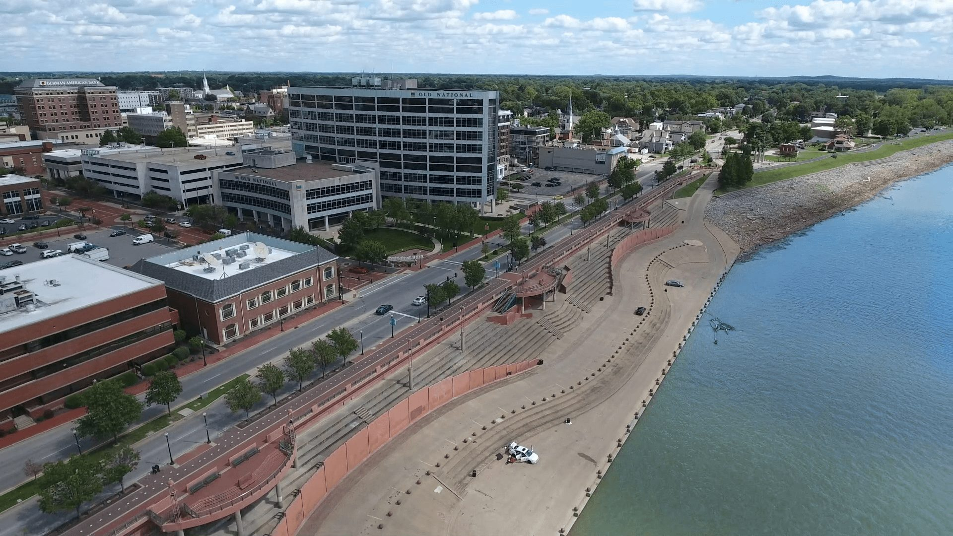 Evansville aerial view right